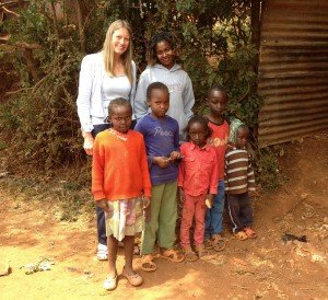 Hannah Ngoroge with kids and Sarah